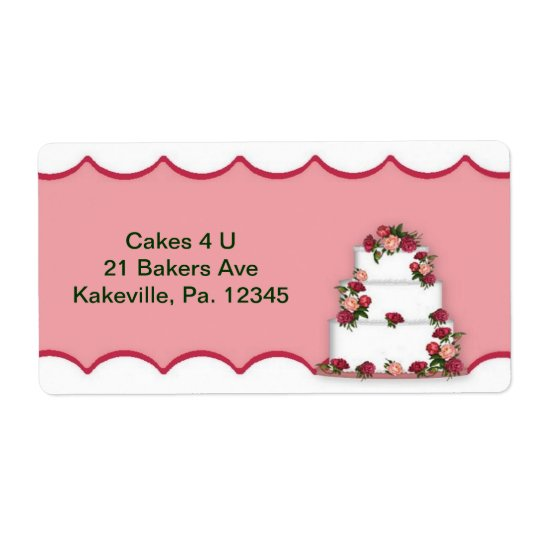 Wedding Cake Label
