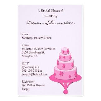 Wedding Cake Pink 13 Cm X 18 Cm Invitation Card
