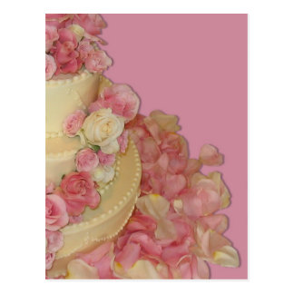 Wedding Cake Roses Postcards