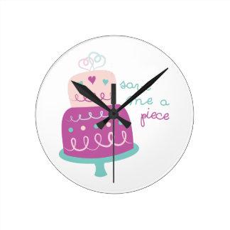 Wedding Cake Save Me A Piece Wall Clock