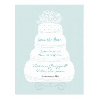 Wedding Cake Save the Date Card
