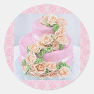 Wedding Cake Round Sticker