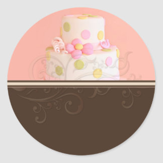 Wedding Cake stickers/bakers/pastry chef Round Sticker