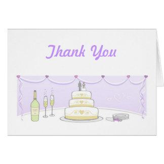 Wedding Cake Thank You Cards