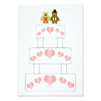 Wedding Cake Wedding Reception 13 Cm X 18 Cm Invitation Card
