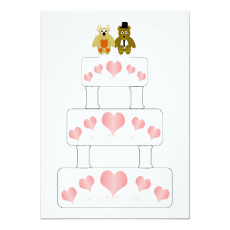 Wedding Cake Wedding Reception Card