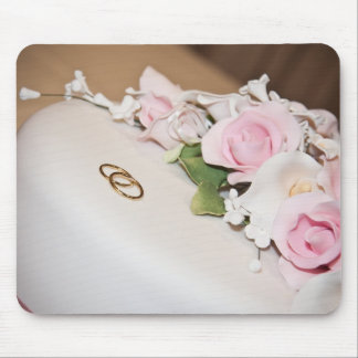 Wedding Cake with Bands Mousepads