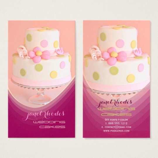 Wedding cakes pastry chef business card