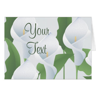 Wedding Calla Lilies All Purpose Greeting Card Cards