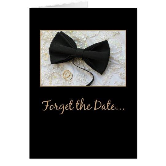 Wedding cancellation announcement