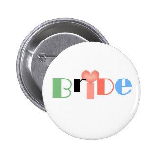 Wedding Candy Jar Bride 6 Cm Round Badge
