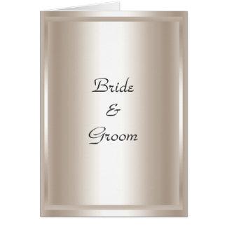 Wedding Card Invitation Silver