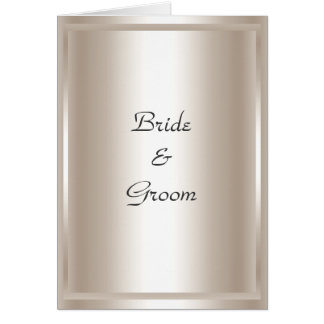 Wedding Card Invitation Silver Greeting Cards
