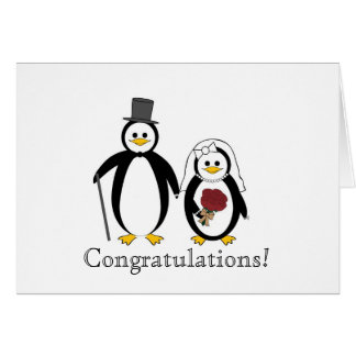 Wedding Card w/ Penguins