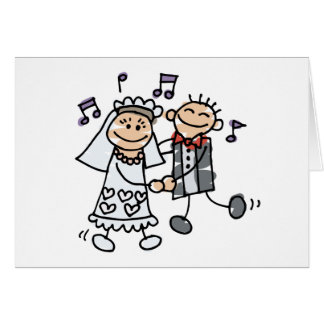 Wedding Cartoon Dance Card
