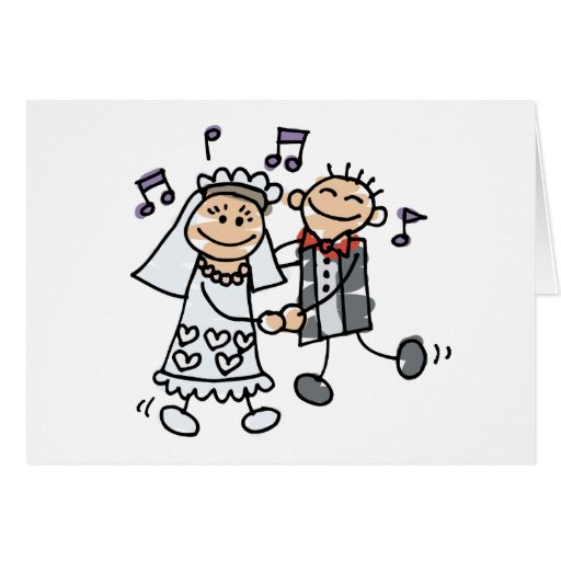 Wedding Cartoon Dance Greeting Card