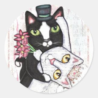 Wedding Cat Dance Stickers