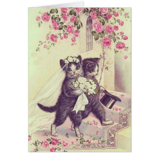 Wedding Cats Blank Customisable Card