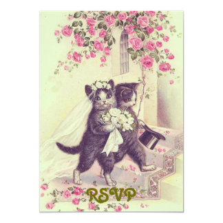 Wedding Cats RSVP Invitation