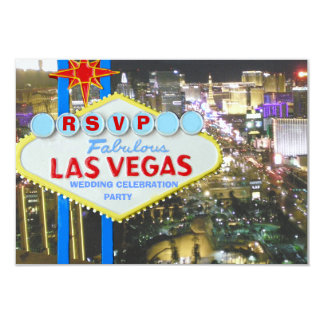 Wedding Celebration after Vegas Vows 9 Cm X 13 Cm Invitation Card