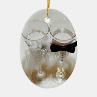 Wedding Celebration Glasses Christmas Ornament