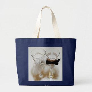 Wedding Celebration Glasses Large Tote Bag
