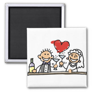 Wedding Celebration Square Magnet