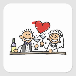Wedding Celebration Square Sticker