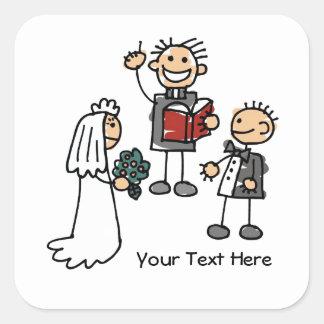 Wedding Ceremony (customizable) Square Sticker
