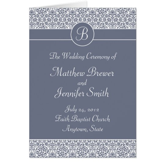 Wedding Ceremony Program and Order of Service Card
