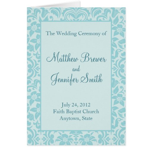 Wedding Ceremony Program and Order of Service Card Cards