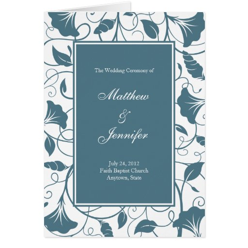 Wedding Ceremony Program and Order of Service Card Greeting Cards