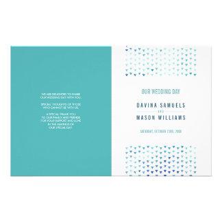 WEDDING CEREMONY PROGRAM boho pattern blue 14 Cm X 21.5 Cm Flyer