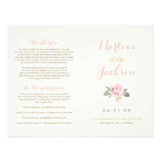 Wedding Ceremony Program | Spring Vintage Boho Flyer