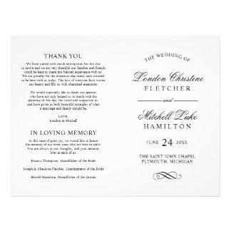 Wedding Ceremony Programs   Black Classic Elegance 21.5 Cm X 28 Cm Flyer