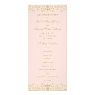 Wedding Ceremony Programs | Gold Vintage Glam Custom Rack Cards