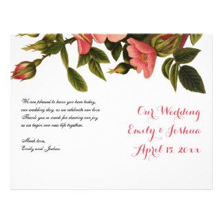 Wedding Ceremony Template Floral Program Flyer