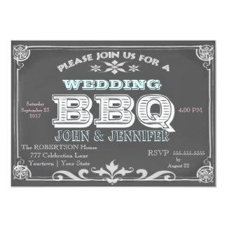 Wedding Chalkboard BBQ Card
