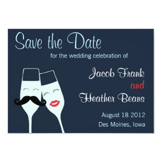 "Wedding Champagne Toast Save the Date 5"" X 7"" Invitation Card"