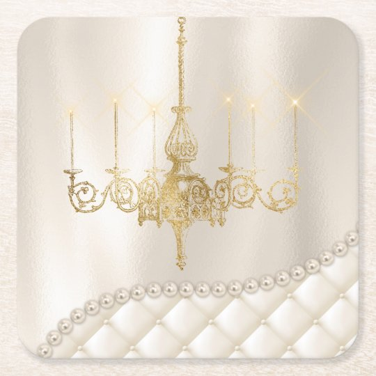 Wedding Chandelier Lighting Ivory Pearls Coaster