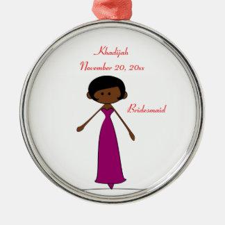 Wedding Characters Bridesmaid Ornament (A2)