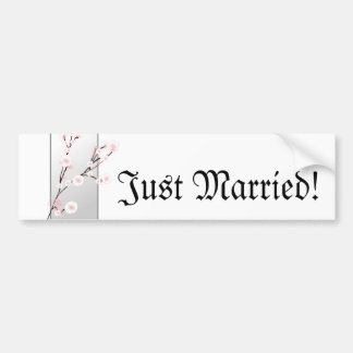 Wedding Cherry Blossoms Template Bumper Sticker