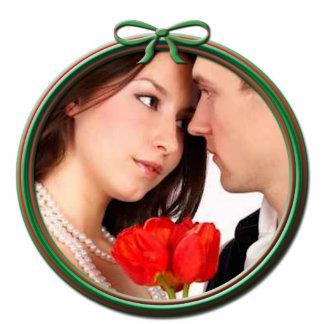 Wedding Christmas Ornament Photo Sculpture Decoration