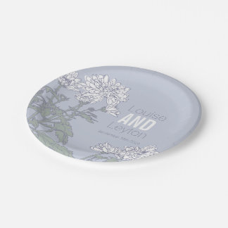 Wedding chrysanthemum white flower custom plates