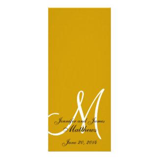 Wedding Church Program Monogram Gold White Custom Announcements
