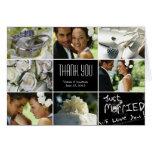 Wedding Collage Thank You Card - Black