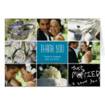 Wedding Collage Thank You Card - Turquoise