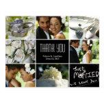 Wedding Collage Thank You Postcard Post Card