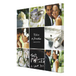 Wedding Collage Wrapped Canvas