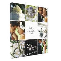 Wedding Collage Wrapped Canvas - White Canvas Print